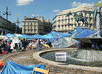 Puerta del Sol in Madrid, 20th of May 2011.