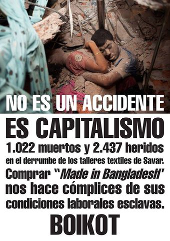 """No somos cómplices de su codicia"" Boicot a Made In Bangladesh"