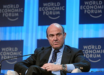 Luis de Guindos durante el World Economic Forum Annual Meeting de 2012